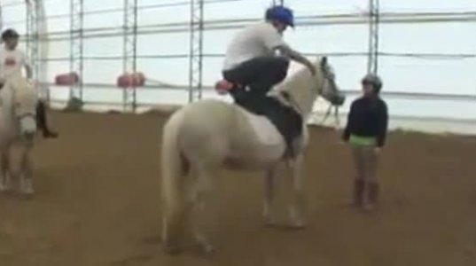 ცხენმა მაგარი გაუჩალიჩა